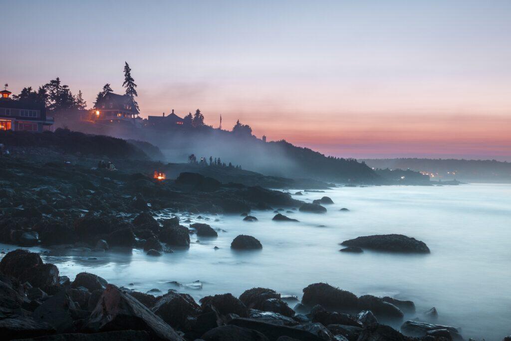 A rocky beach in Ogunquit, Maine.