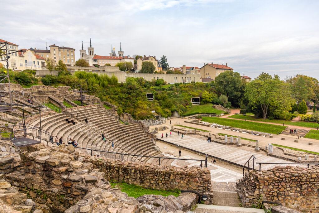 A Roman theater in Lyon, France.