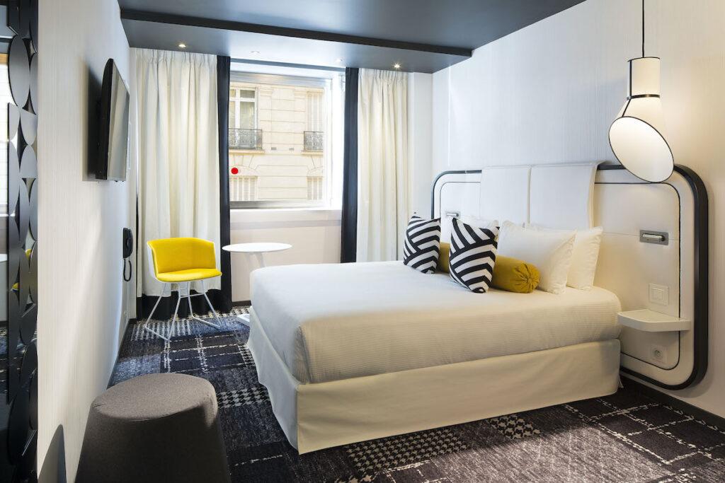 A room at Hotel Ekta.