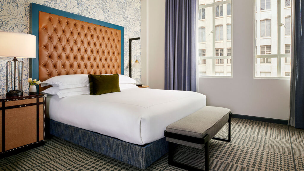 A room at Hotel Monaco in Denver.