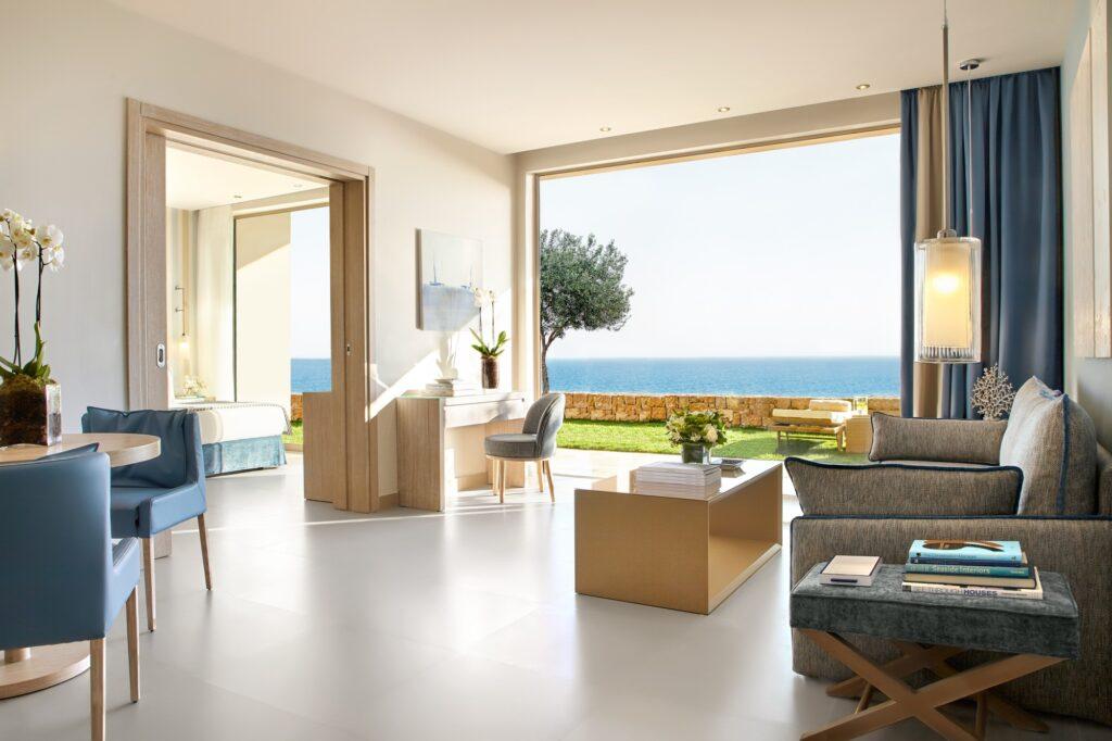 A room at Ikos Oceania in Greece.