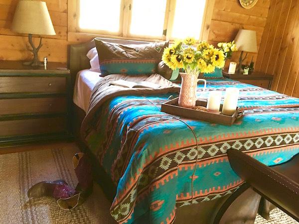 A room at Rawah Ranch's main lodge.
