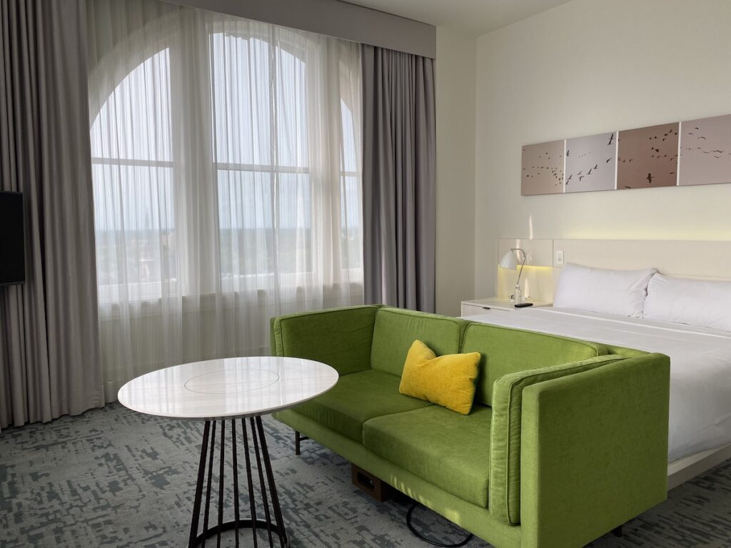 A room at the 21C Museum Hotel Lexington.