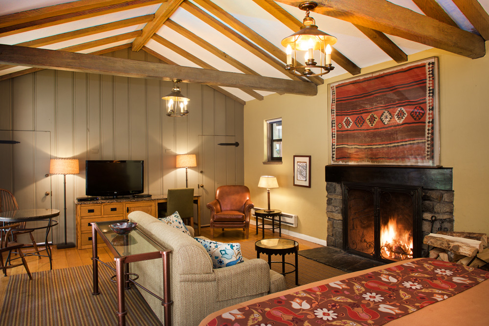A room at the Ahwahnee Hotel in Yosemite.