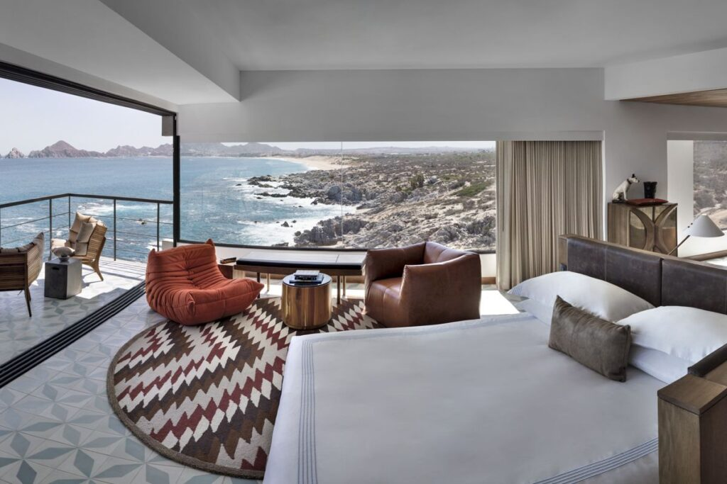 A room at The Cape, a Thompson Hotel in Cabo San Lucas.