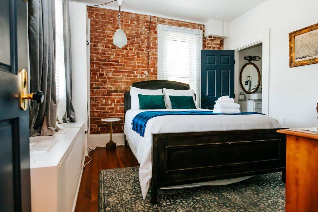 A room at the Dove Inn B&B in Golden, Colorado.