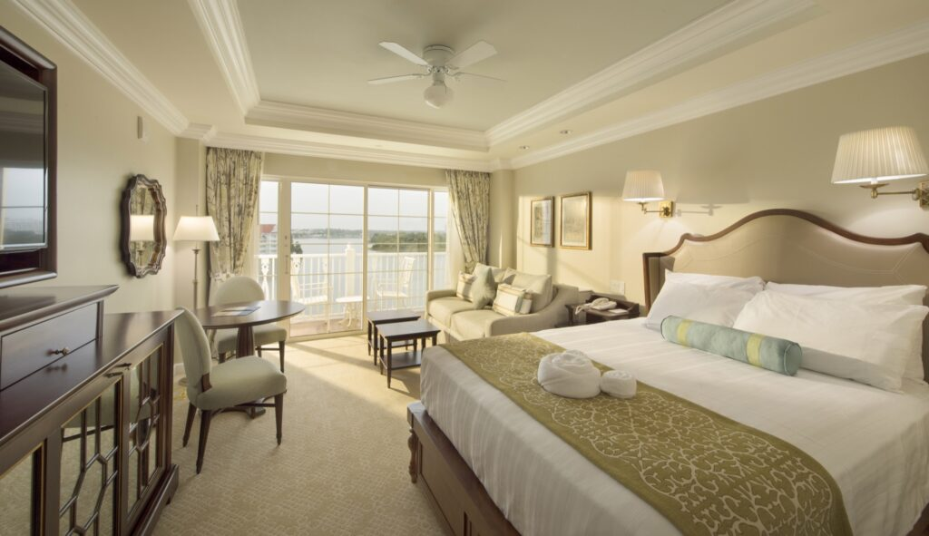 A room at the Grand Floridian Resort.