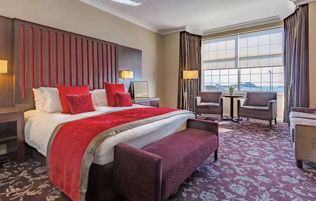 A room at the Grand Jersey Hotel and Spa.