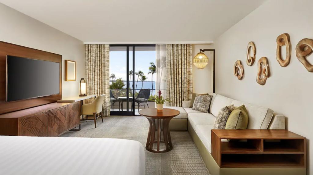 A room at the Hyatt Regency Maui Resort.