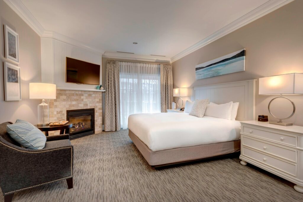 A room at the Inn at Bay Harbor in Charlevoix.