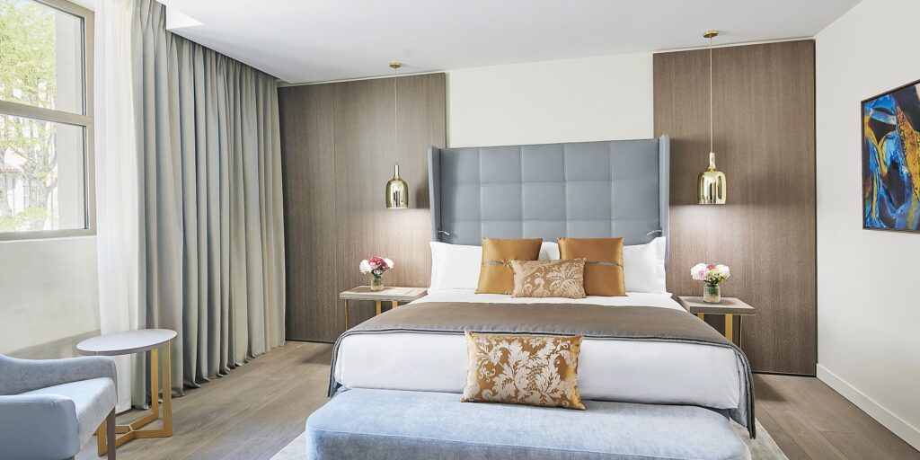 A room at the InterContinental Lyon Hotel Dieu.