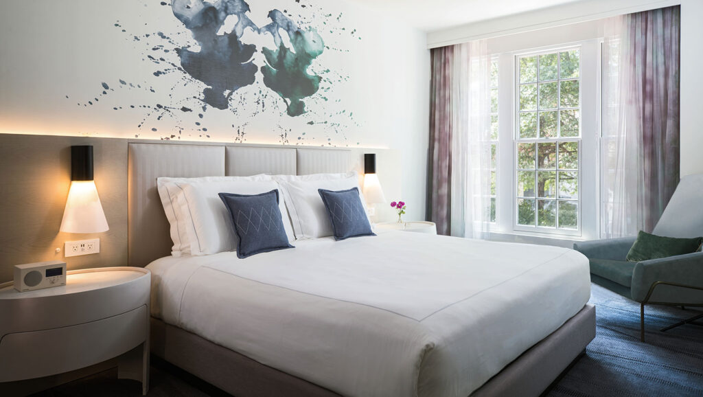A room at the Kimpton Lorien Hotel and Spa.