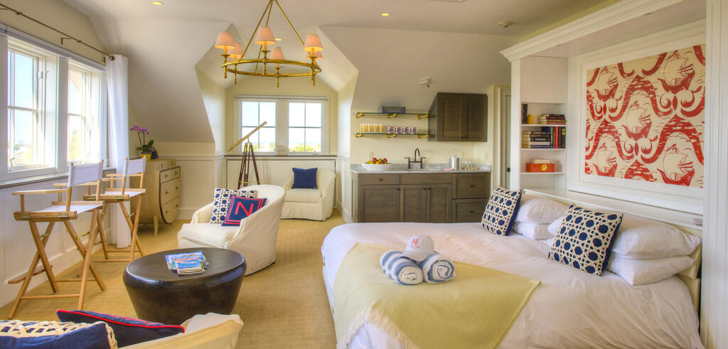 A room at The Nantucket Hotel and Resort.