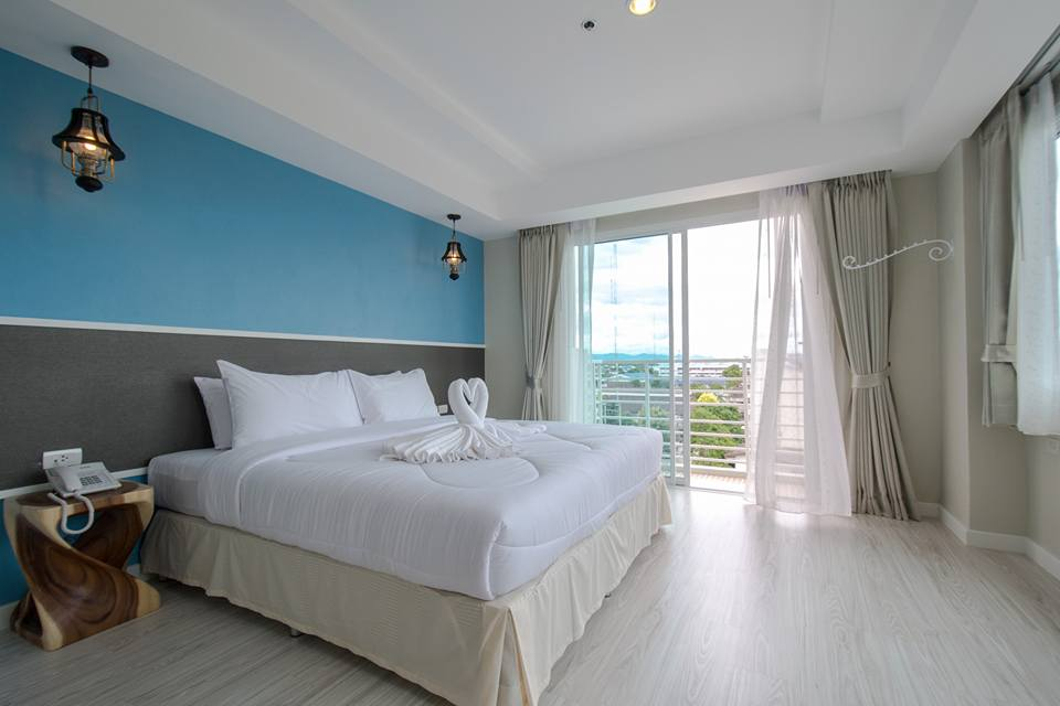 A room at the Prachuap Grand Hotel in Thailand.
