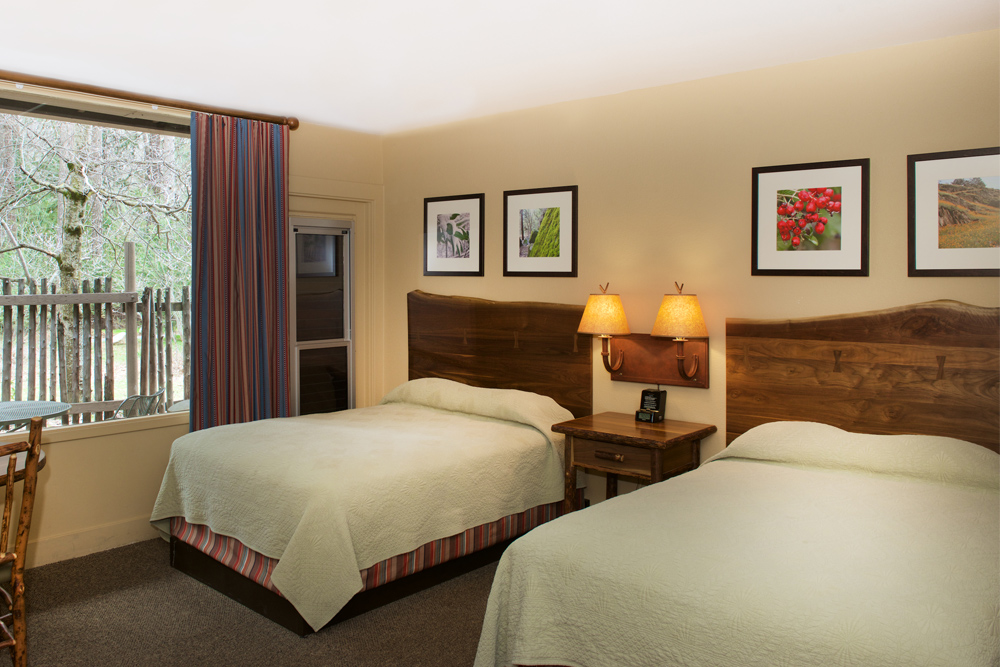 A room at the Yosemite Valley Lodge.