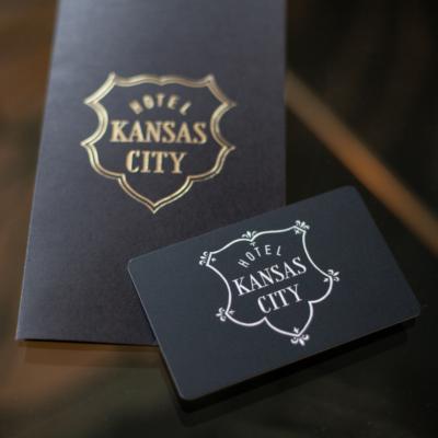 A room key at Hotel Kansas City.