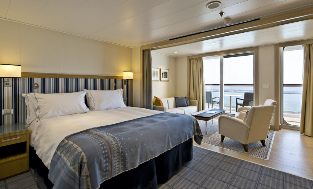 A room on a Viking Cruise ship.