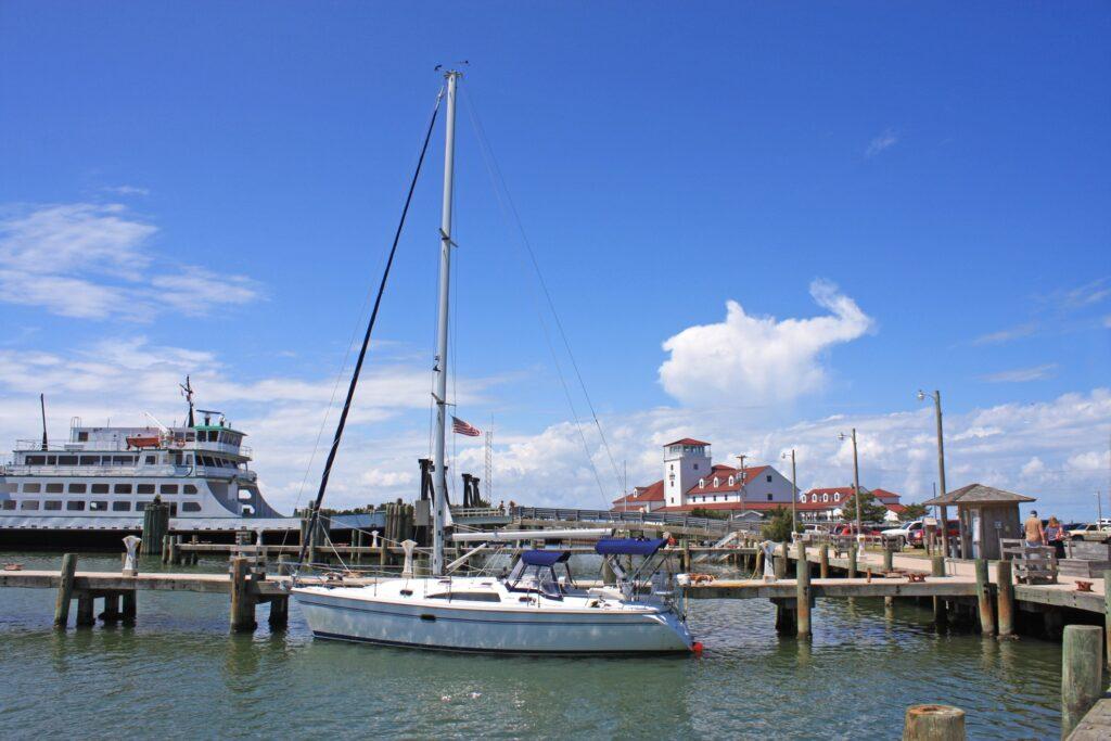 A sailboat on the coast of North Carolina.