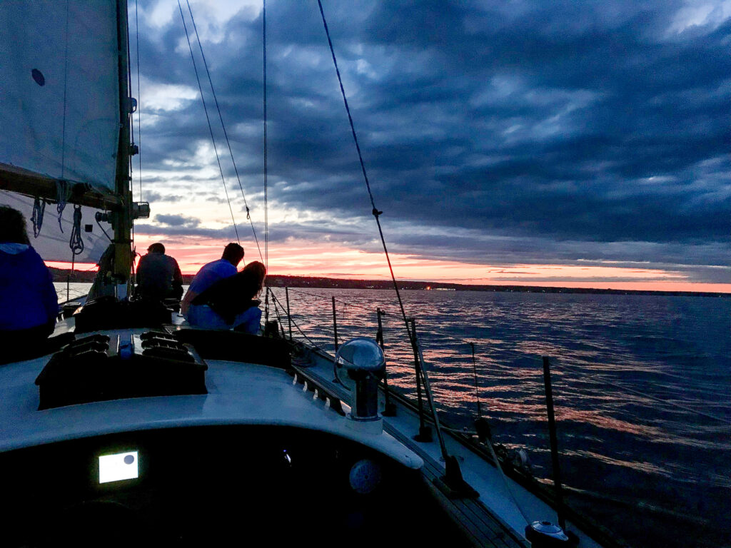 A sailing trip at sunset in Ogunquit, Maine.