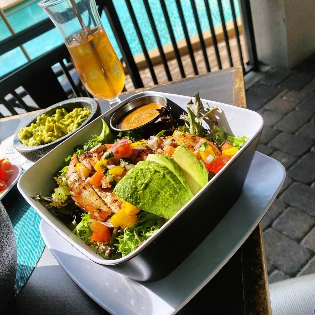 A salad from 39 Poolside at Rosen Plaza in Orlando.