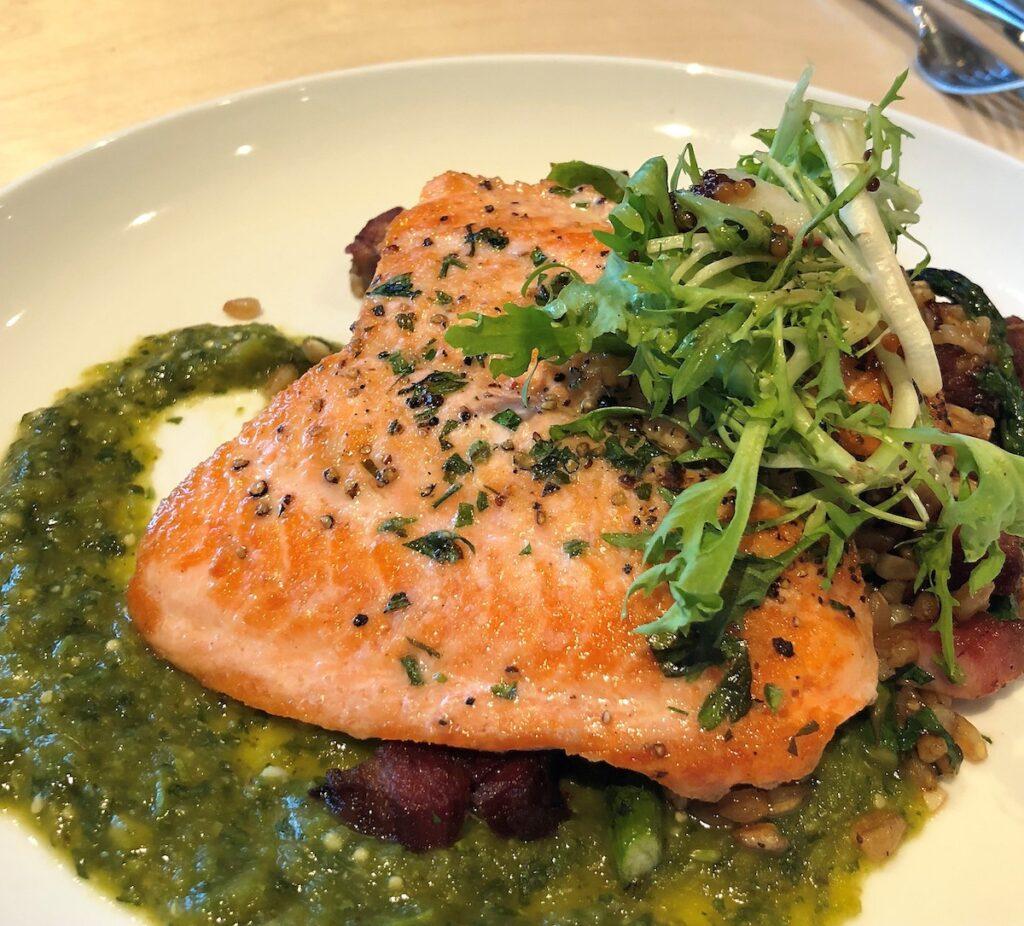 A salmon dinner.