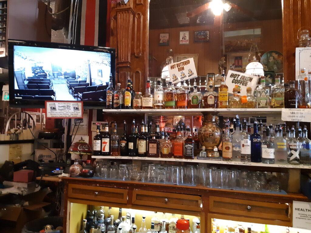 A saloon in Virginia City, Nevada.