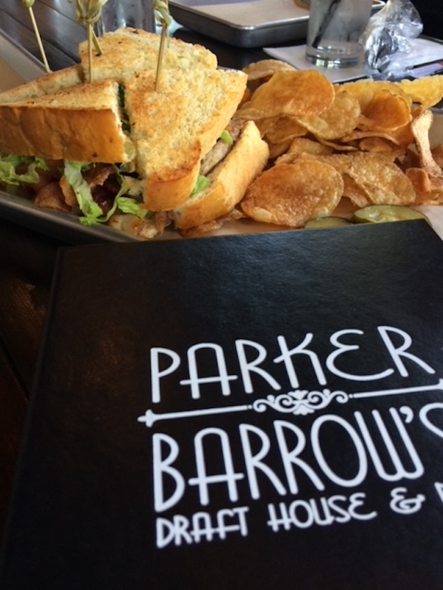 A sandwich from Parker and Barrow in the Bishop Arts District.