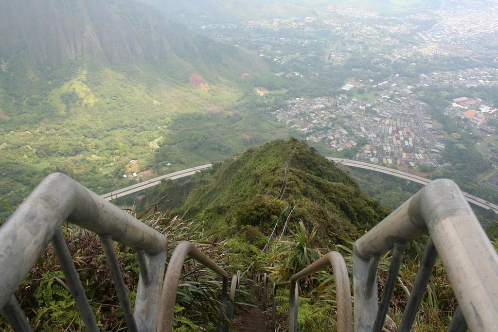 A scenic hiking trail in Hawaii.