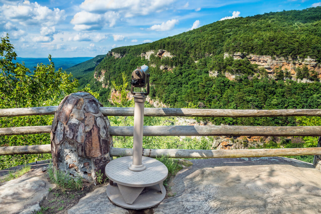 A scenic overlook at Cloud Canyon in Georgia.