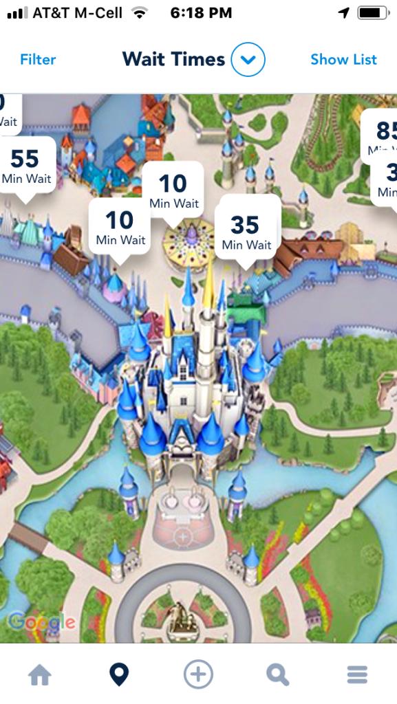 A screenshot of My Disney Experience.
