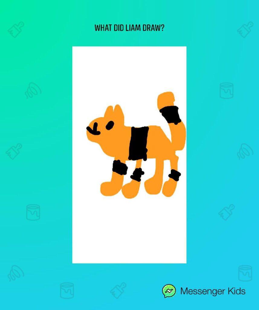 A screenshot of the Messenger Kids app.