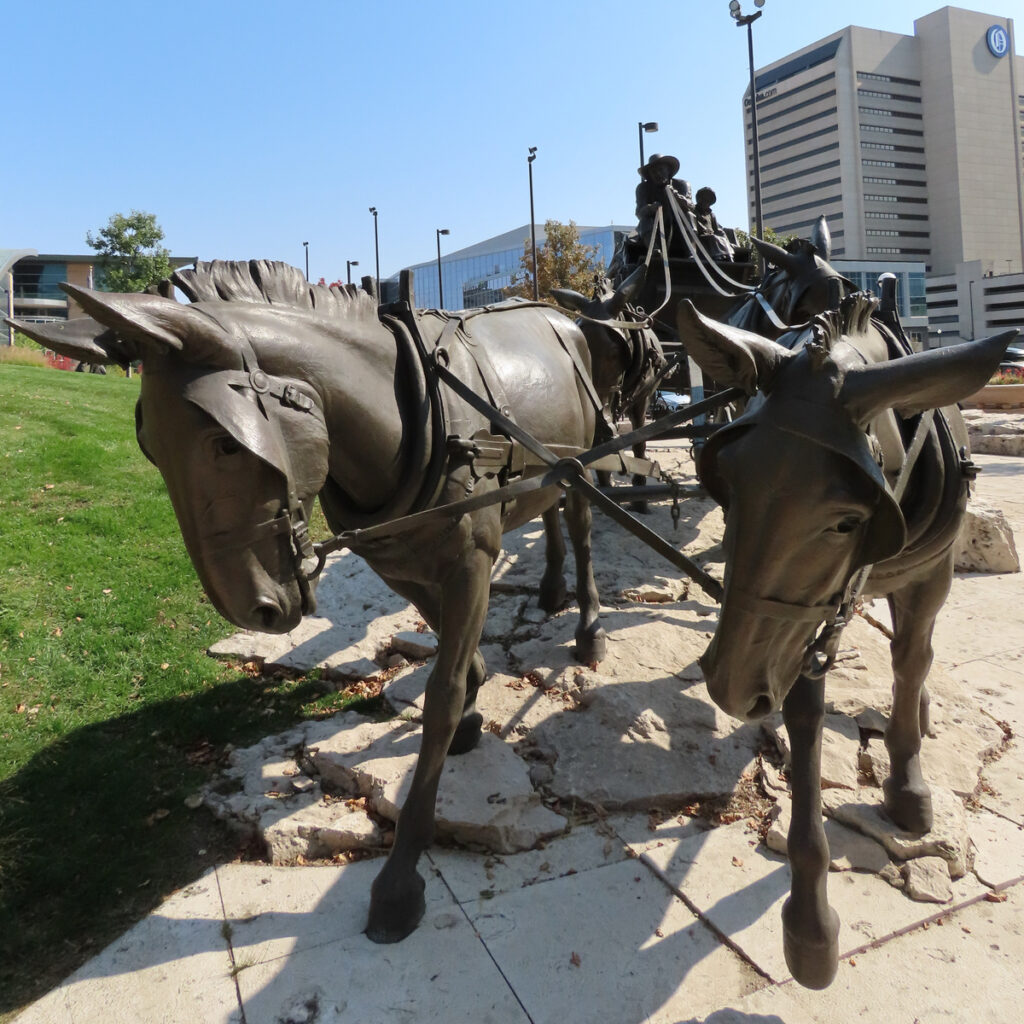 A sculpture at Pioneer Courage Park in Omaha.
