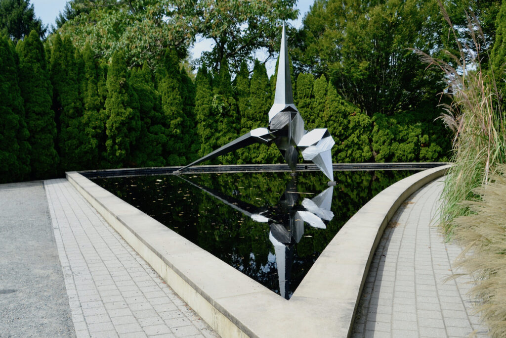 A sculpture by Bruce Beasley at Grounds For Sculpture.