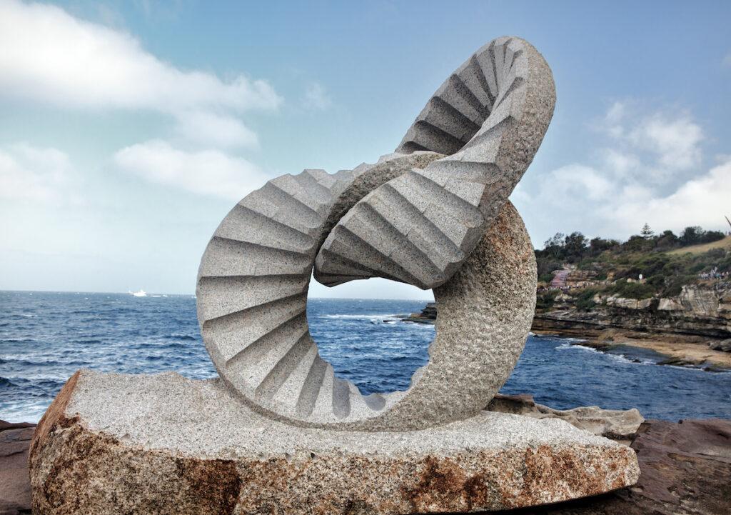A sculpture from 2013's Bondi Beach sculpture walk.