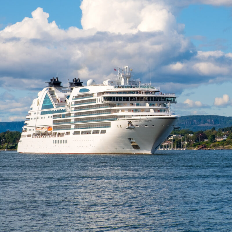 A Seabourne cruise ship.