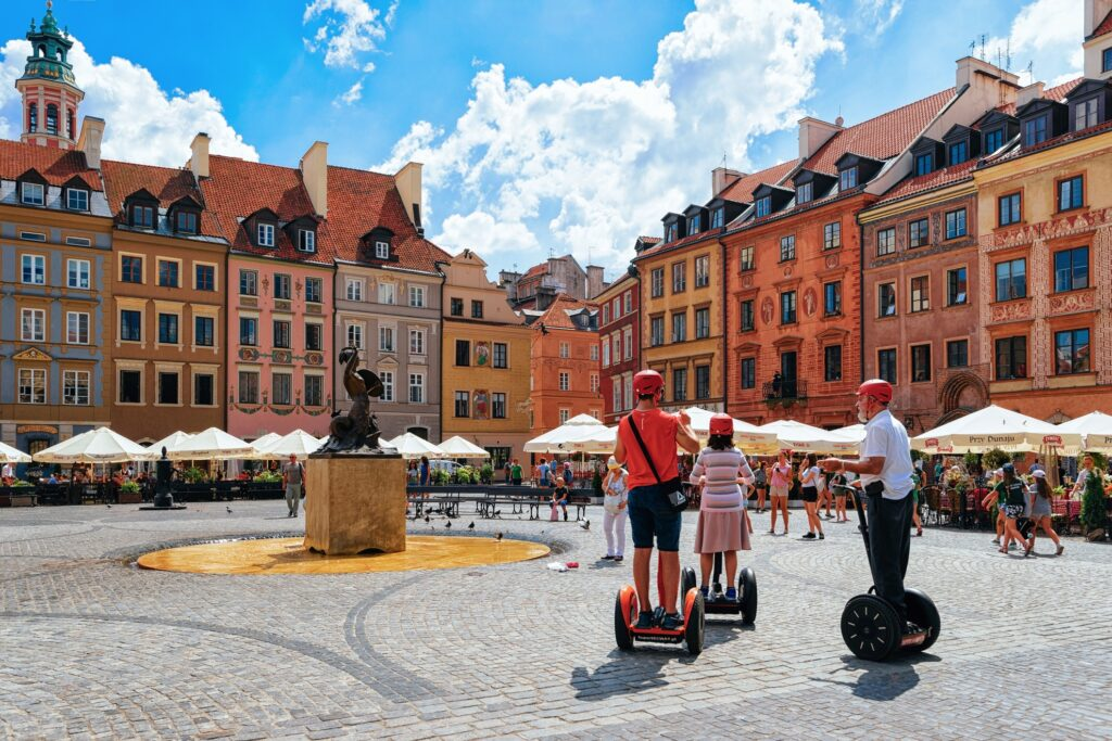 A segway tour of Old Town Warsaw.