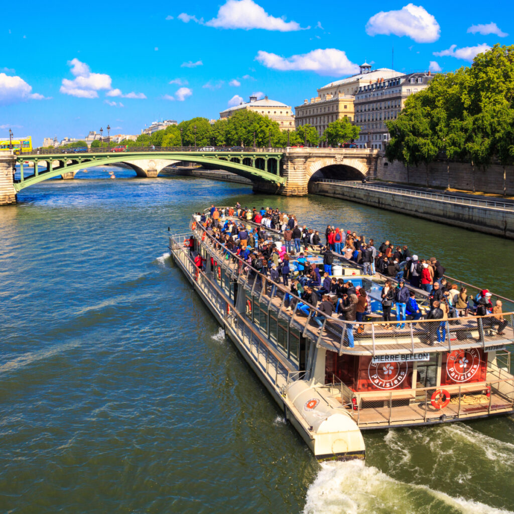 A Seine river cruise from Bateaux Parisiens.