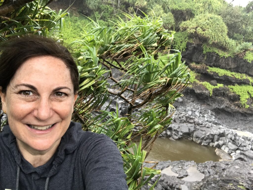 A selfie in Hawaii from the writer.