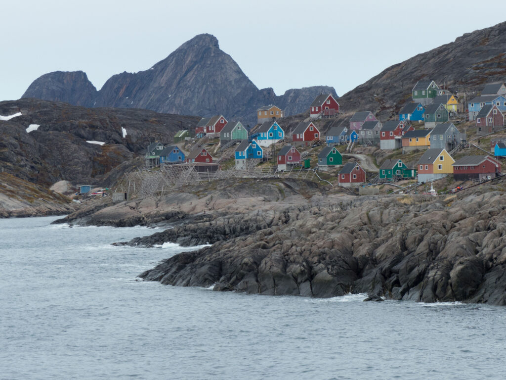 A settlement in Greenland.