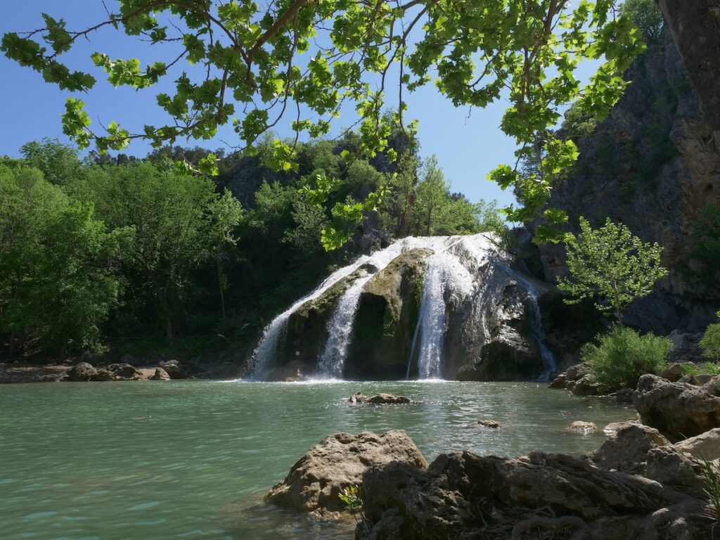 A shady spot by Turner Falls in Oklahoma.