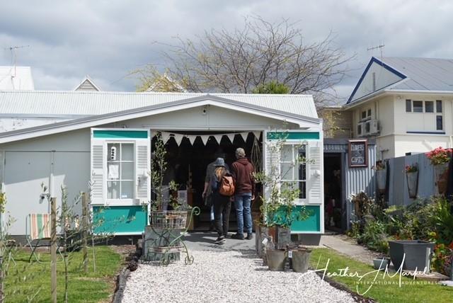 A shop along Russell's main street.