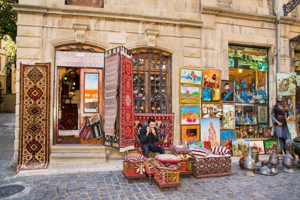 A shop in old town Baku.