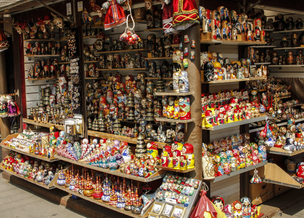 A shop selling Matroyshka dolls.