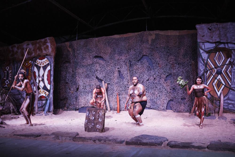 A show at the Tjapukai Aboriginal Cultural Park.