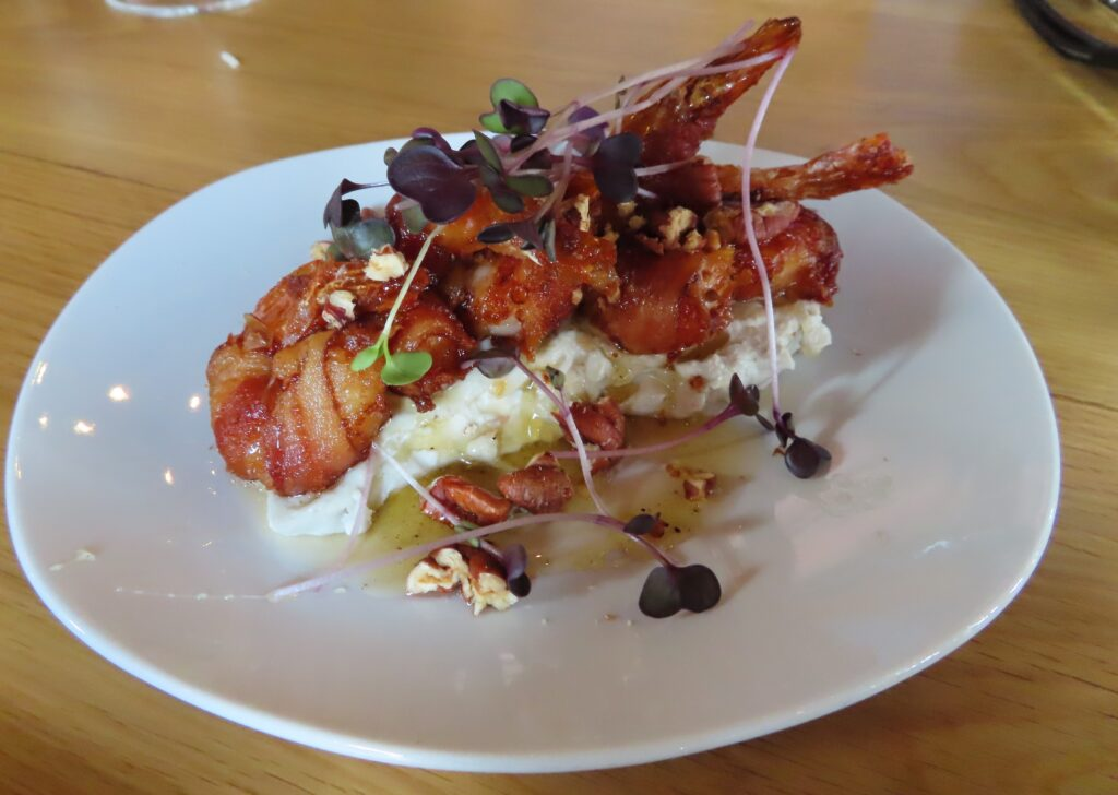 A shrimp dish from Rootstock and Vine.