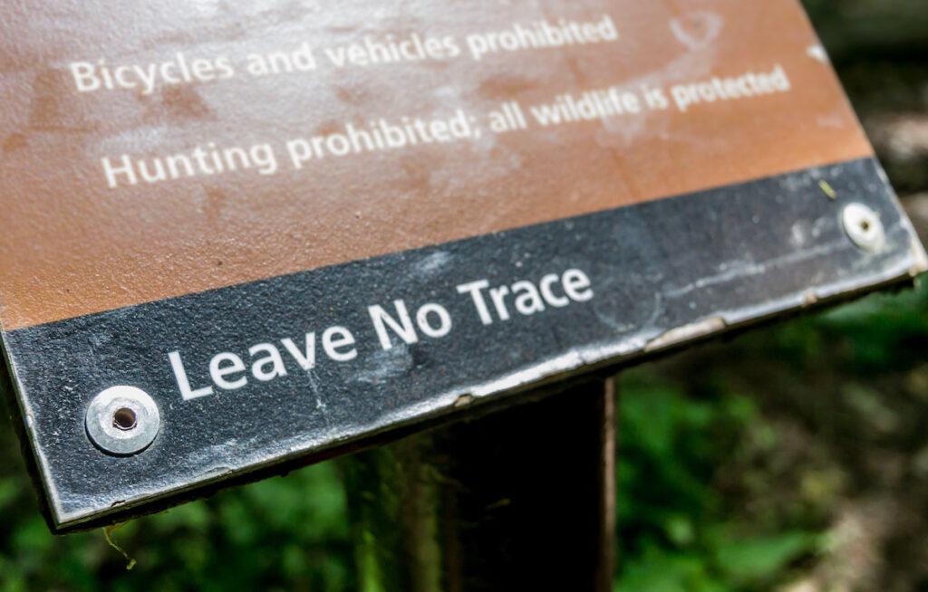 A sign in Shenandoah National Park.