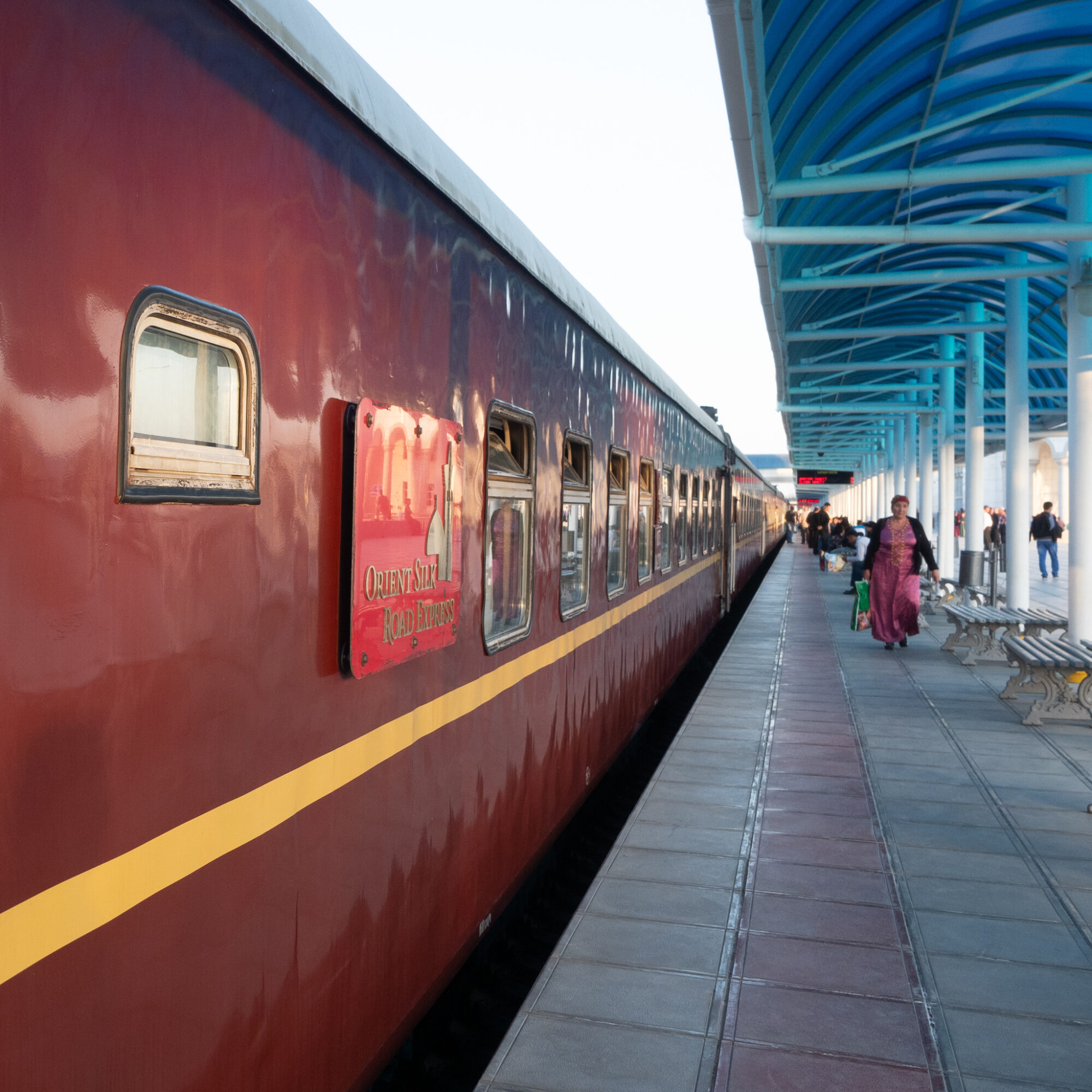 A Silk Road private sleeper train.