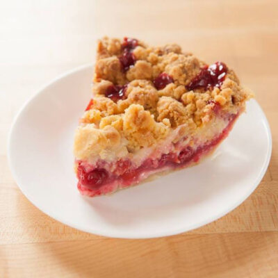 A slice of cherry pie from the Grand Traverse Pie Company.