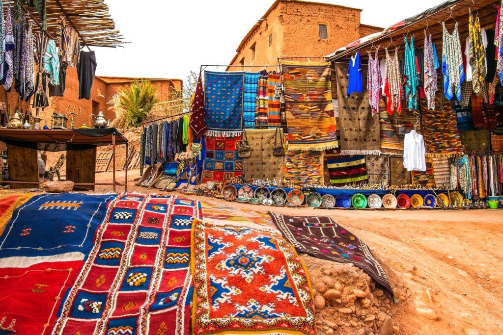 A souk in Marrakesh, Morocco.