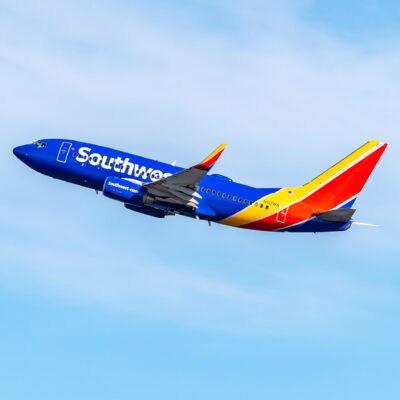 A Southwest Airlines plane.